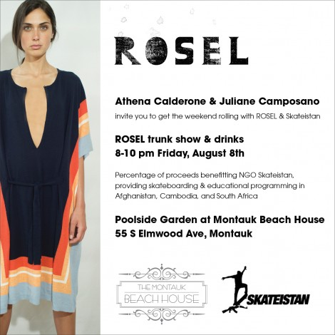 ROSEL Trunk Show Hosted By Athena Calderone And Juliane Camposano @ Poolside Garden at Montauk Beach House  | Montauk | New York | United States