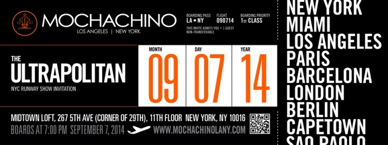 MOCHACHINO - THE ULTRAPOLITAN - S/S 2015 FASHION SHOW @ Midtown Lofts & Terrace | New York | New York | United States
