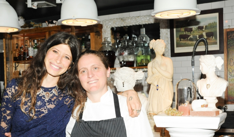 BON APPETIT Presents Feast or Fashion, Chef April Bloomfield and Jewelry designer PAMELA LOVE at the Spotted Pig