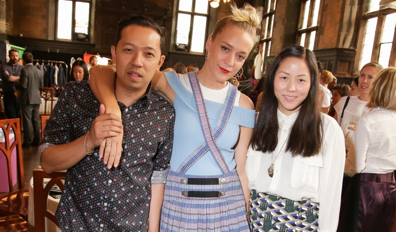 Bon Apptit's Feast or Fashion presents Carlo Mirarchi and Brooks Headley with Chloe Sevigny with Opening Ceremony