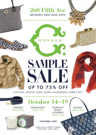 C. WONDER SAMPLE SALE @ 260SAMPLESALE | New York | New York | United States