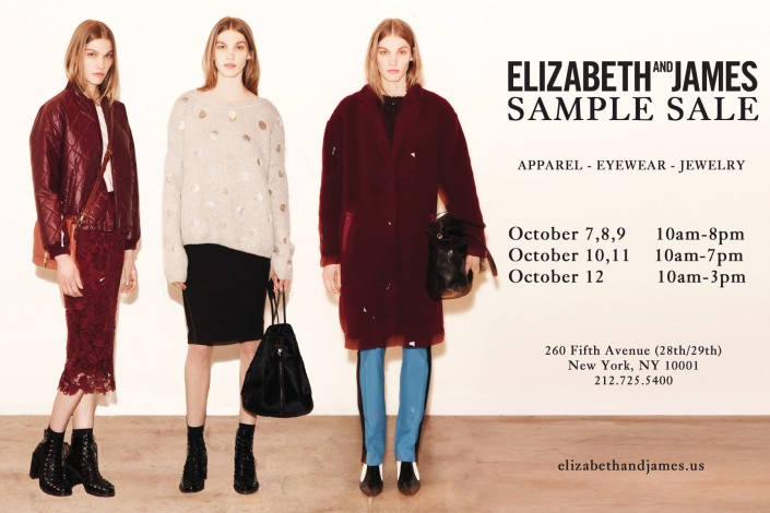 ELIZABETH AND JAMES SAMPLE SALE @ 260SAMPLESALE | New York | New York | United States