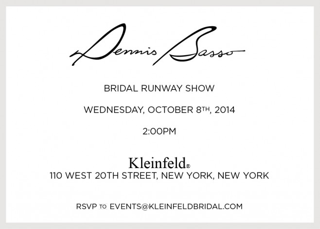 Dennis Basso Bridal Runway Show @ Kleinfeld NYC | New York | New York | United States