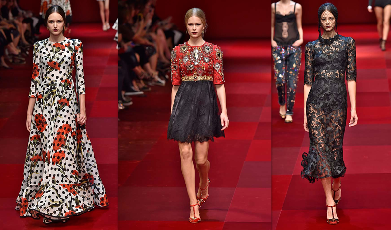 Dolce Amp Gabbana Spring 2015 Daily Front Row