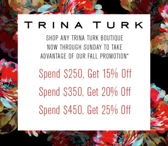 Trina Turk In-Store Promotion @ Trina Turk Outlets