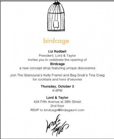 Lord & Taylor Birdcage Opening @ Lord & Taylor | New York | New York | United States