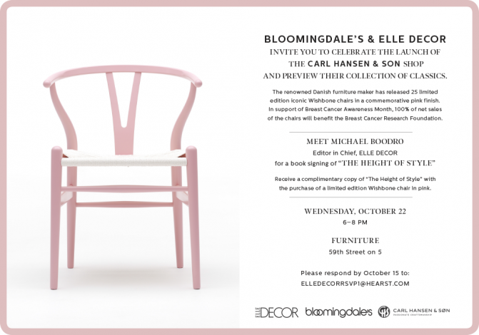 Bloomingdale's & Elle Décor Invite You to Celebrate the Launch of the Carl Hansen & Son Shop @ Bloomingdale's | New York | New York | United States