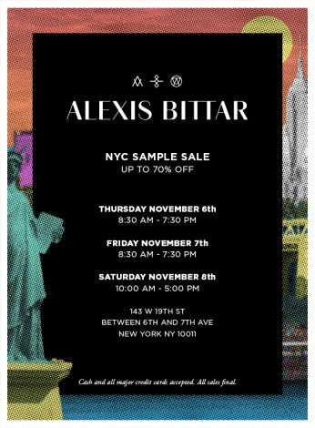 ALEXIS BITTAR NYC SAMPLE SALE- 11/6- 11/8 @ ALEXIS BITTAR NYC SAMPLE SALE | New York | New York | United States