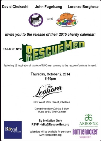 Tails of NYC RescueMen 2015 Calendar Launch Event at The Leonora @ The Leonora  | New York | New York | United States