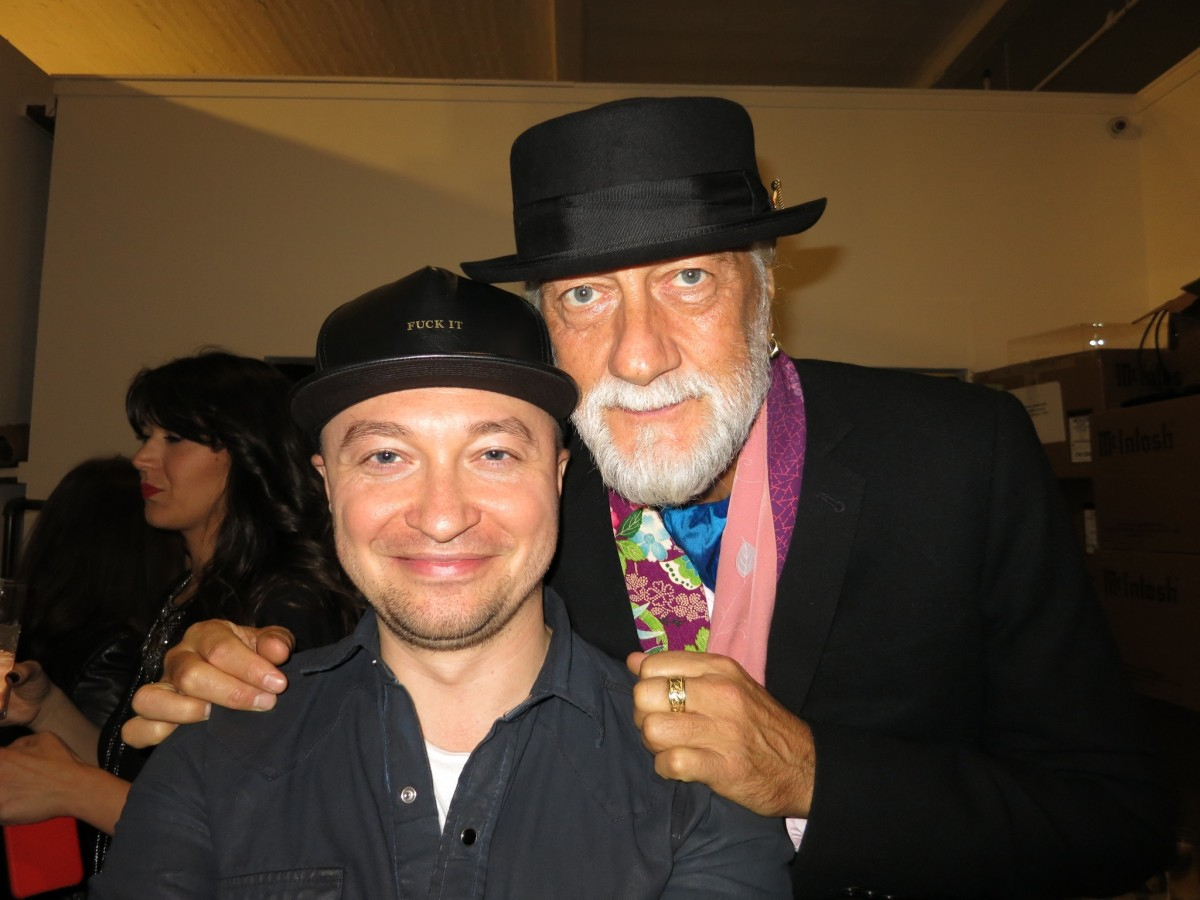 With Mick Fleetwood