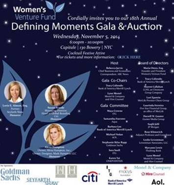 Women's Venture Fund presents the 18th Annual Defining Moments Gala @ Capitale | New York | New York | United States