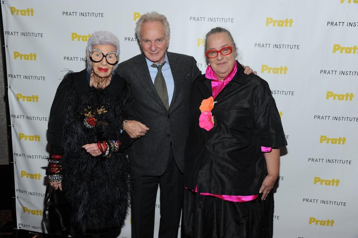 2014 Pratt Institute Legends honorees Iris Apfel, David Yurman, Kim Hastreiter