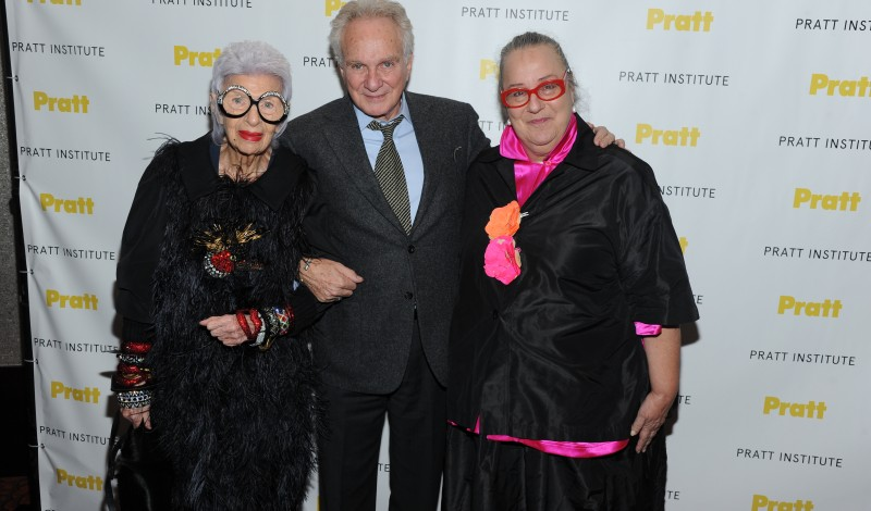 2014 Pratt Institute Legends honorees Iris Apfel, David Yurman, Kim Hastreiter