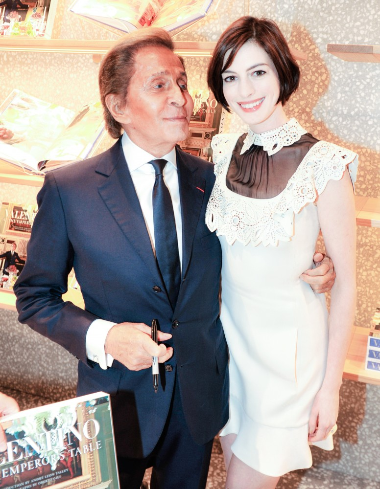 VALENTINO: At the Emperor's Table book signing with Valentino Garavani