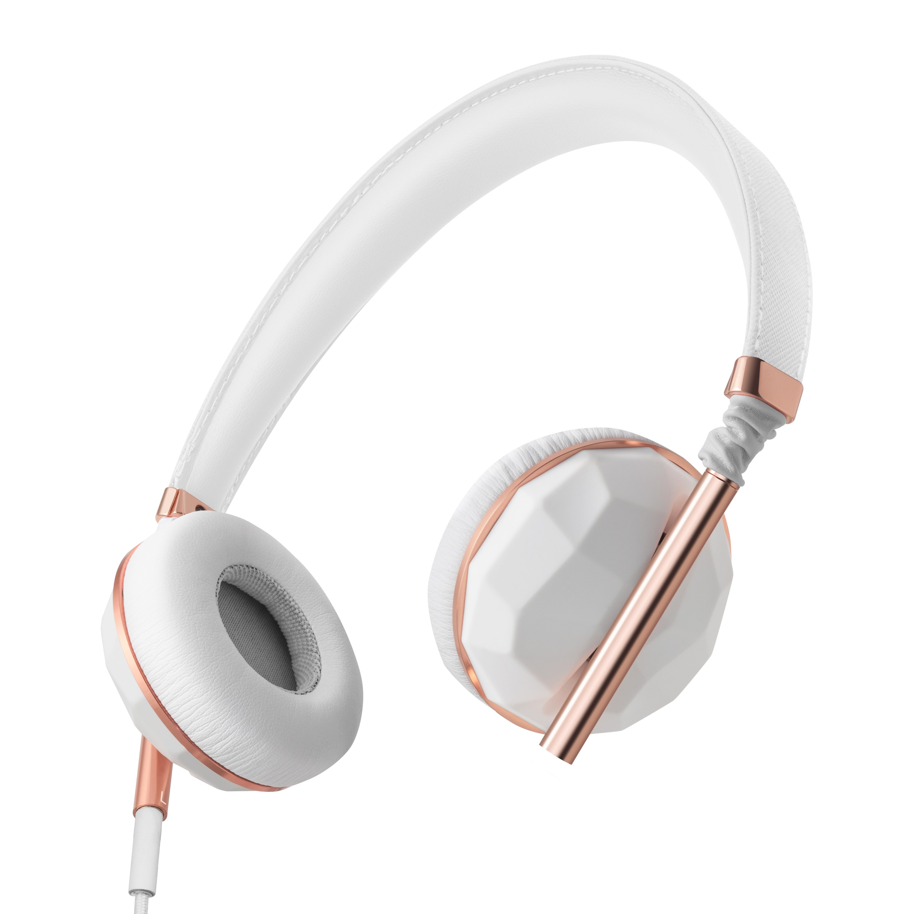 Earbuds white and black - rose gold earbuds