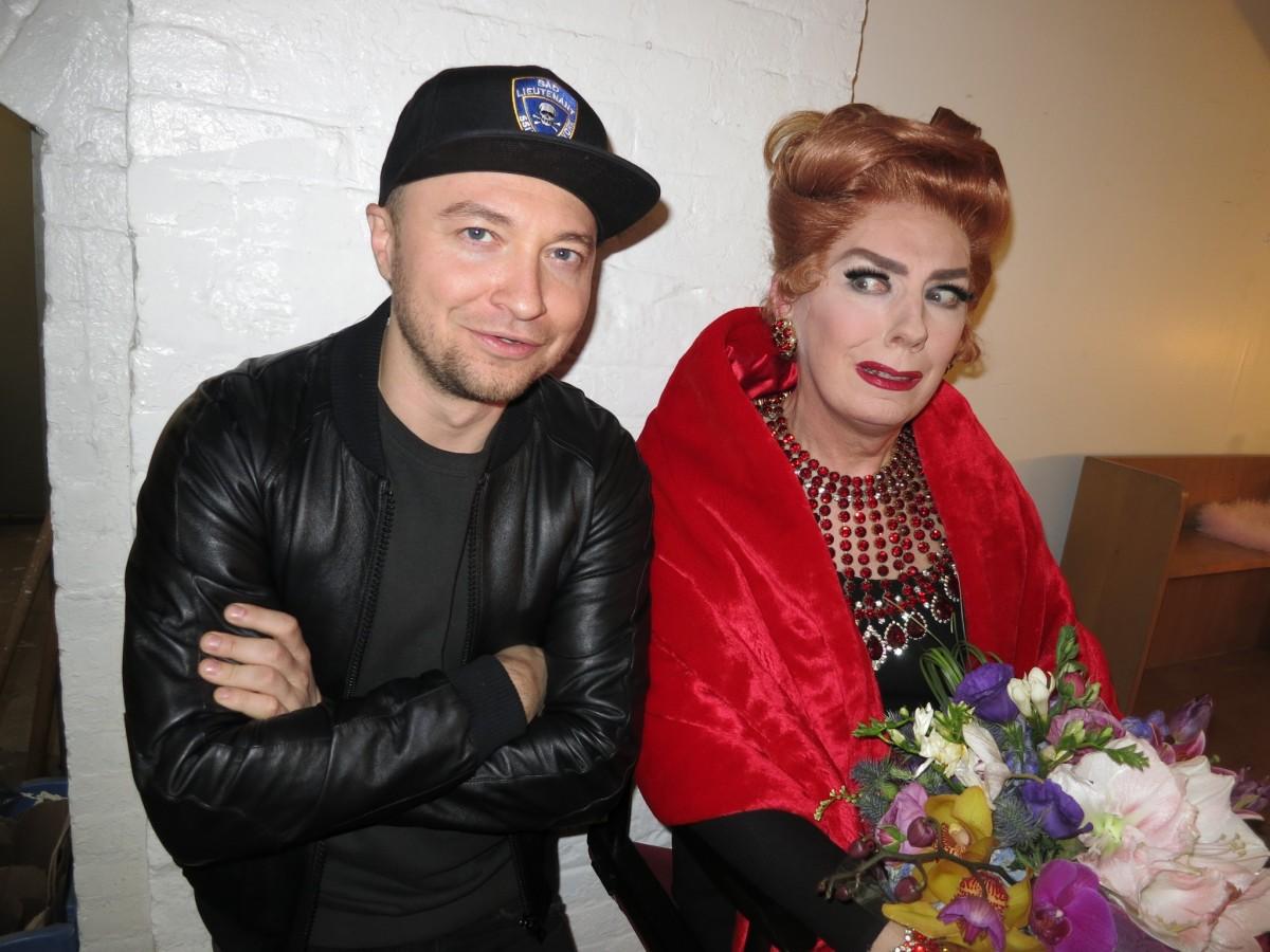 With Lypsinka as Joan Crawford