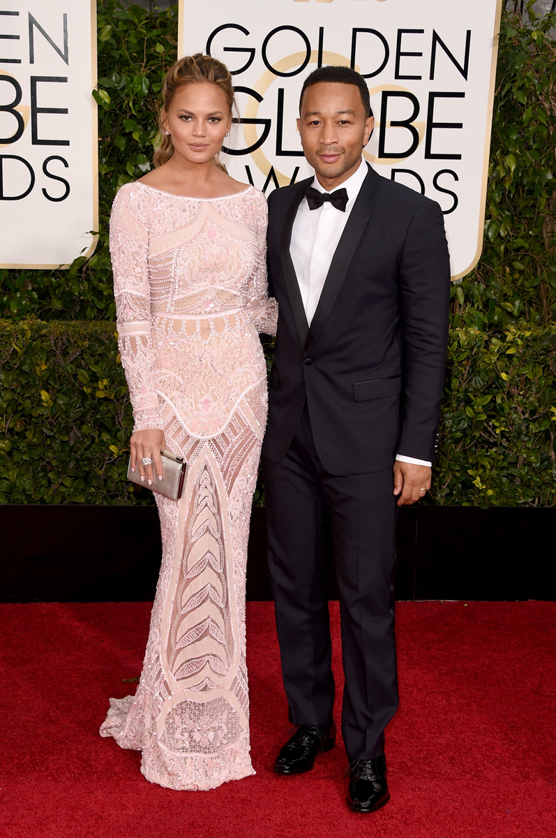 Chrissy Teigen in Zuhair Murad and musician John Legend