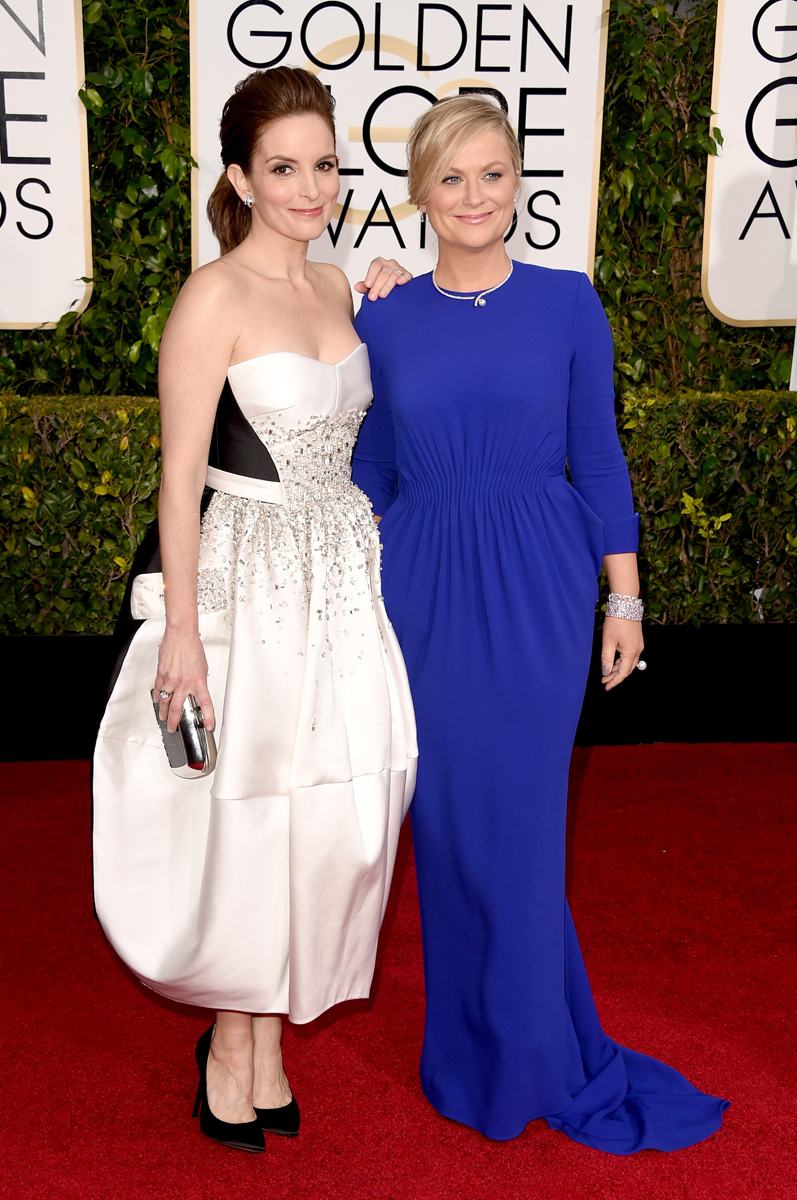 Tina Fey in custom Antonio Berardi and Amy Poehler in Stella McCartney
