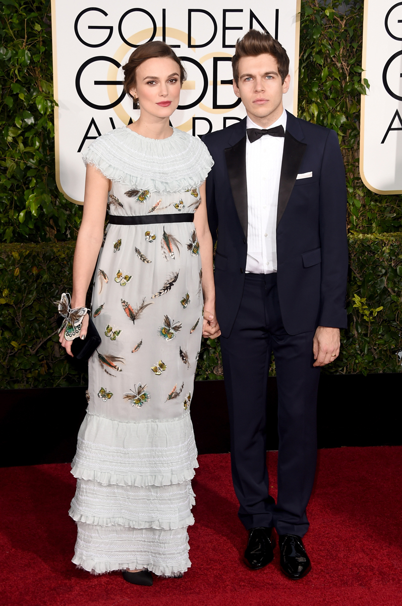 Kiera Knightley in Chanel and musician James Righton