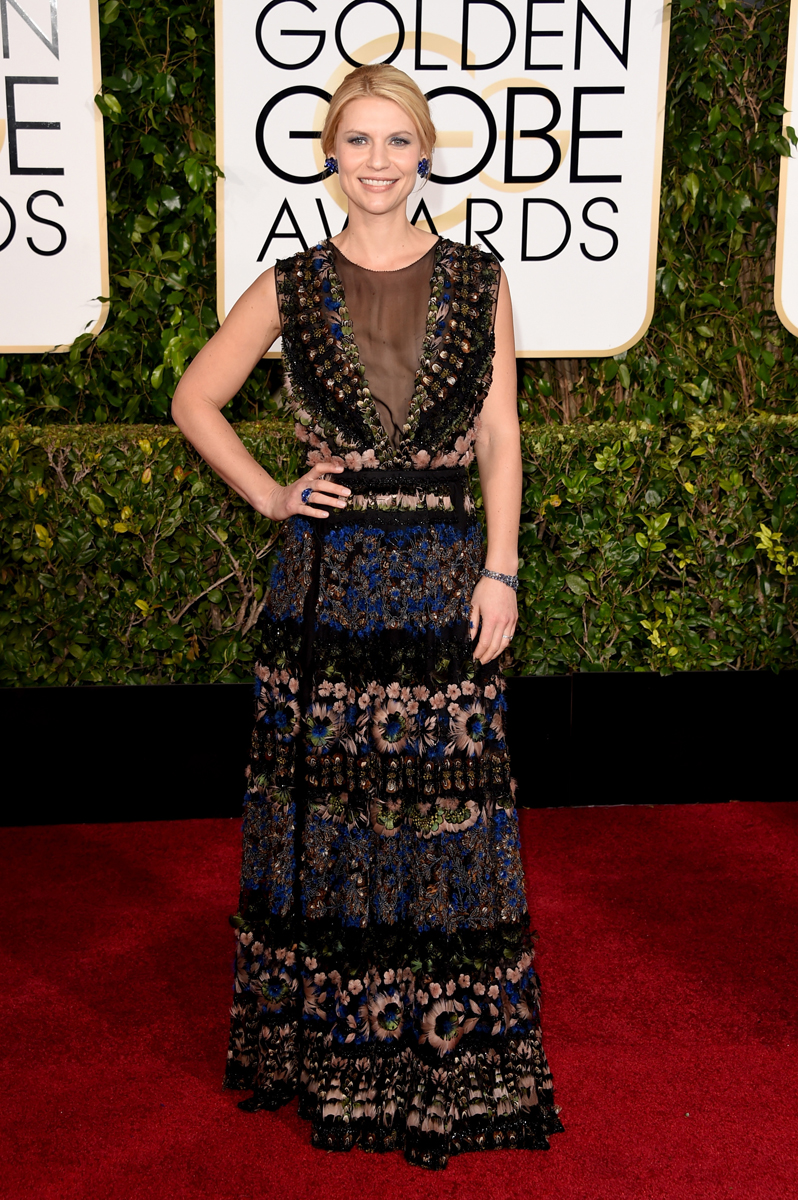 "Claire Danes in Valentino ""I'm wearing art"""
