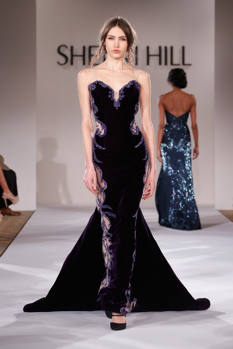 sherri hill runway mercedes benz fashion week fall 2015 daily front row. Black Bedroom Furniture Sets. Home Design Ideas