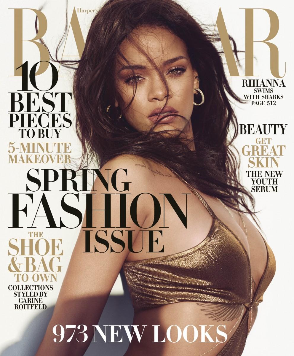 HBZ Rihanna Newsstand Cover