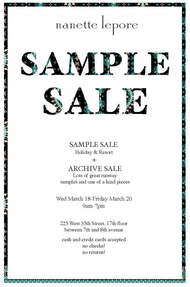 nanette sample sale