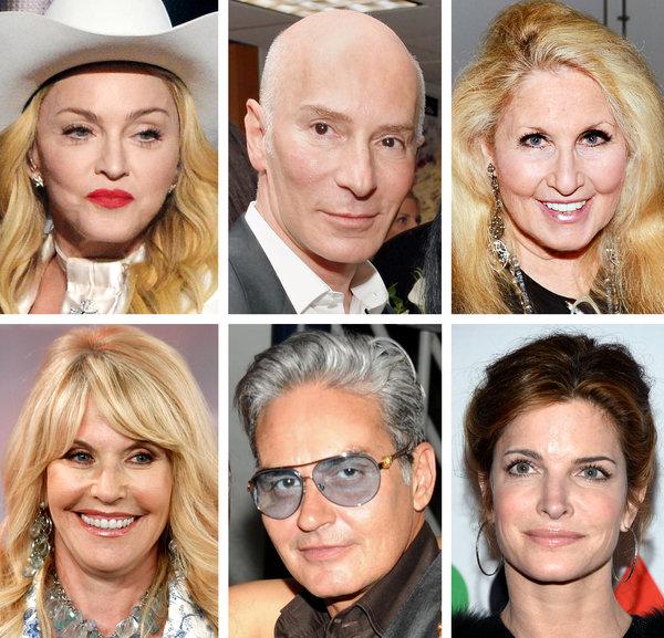 Six of Dr. Brandt's famous clients