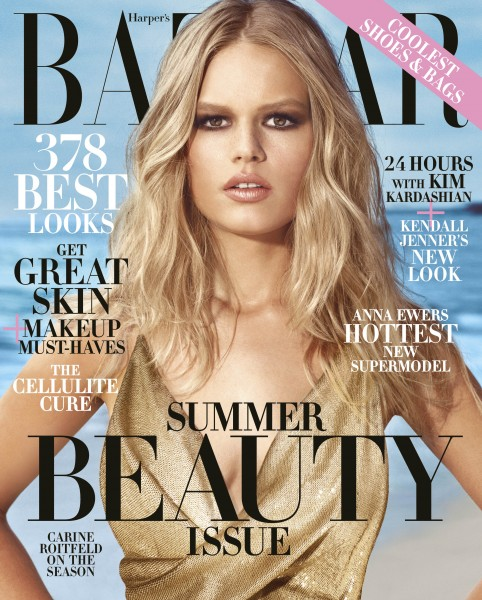 HBZ Anna Ewers May Newsstand Cover