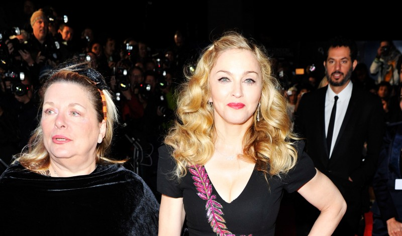 "LONDON, ENGLAND - OCTOBER 23:  Filmmaker Madonna (R) and Liz Rosenberg attend the ""W.E."" premiere during the 55th BFI London Film Festival at Empire Leicester Square on October 23, 2011 in London, England.  (Photo by Gareth Cattermole/Getty Images For The BFI)"