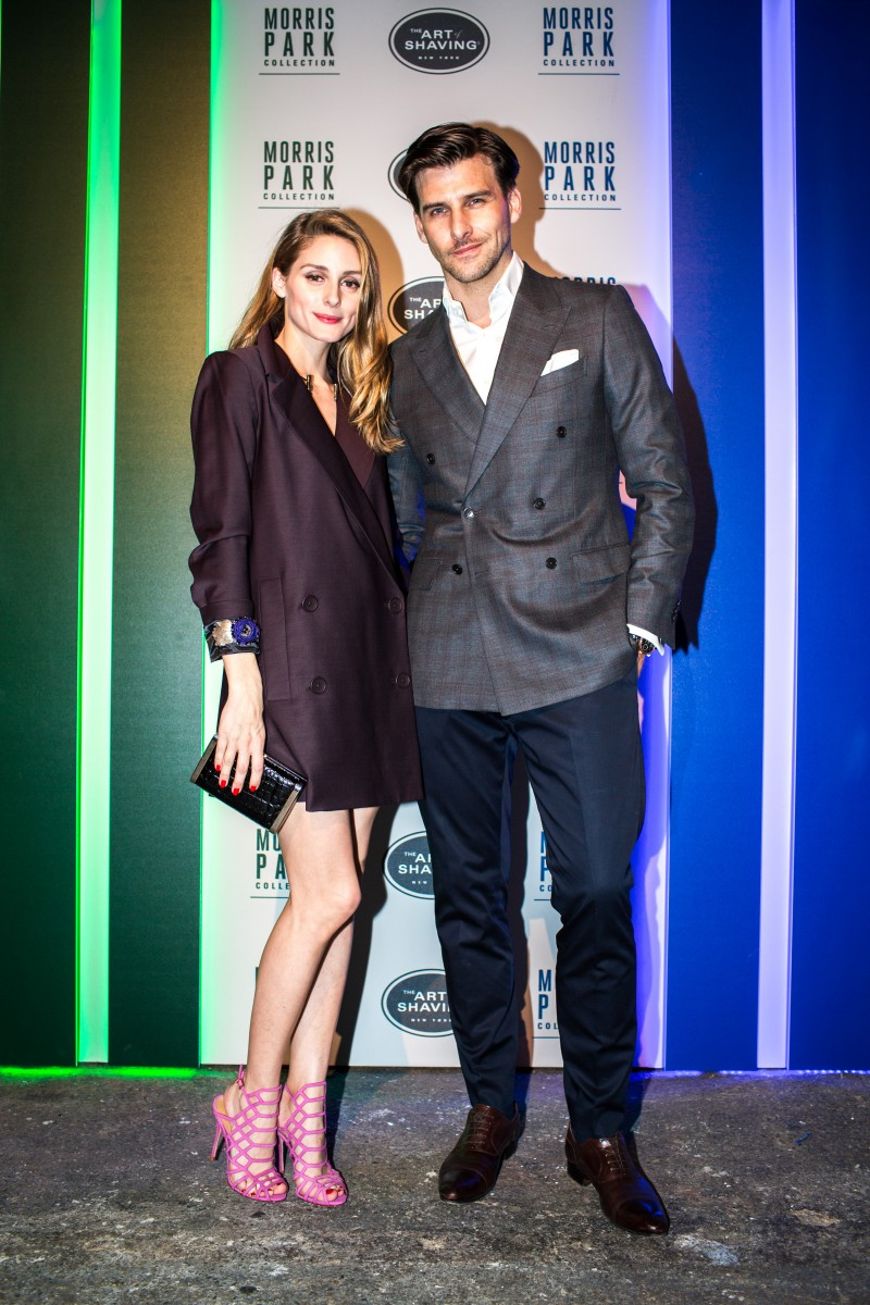Racing around with olivia palermo and johannes huebl