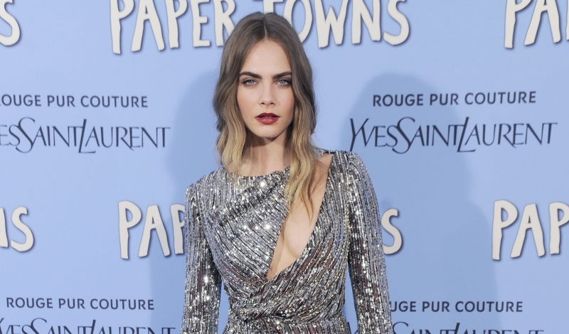 "Cara Delevingne==Twentieth Century Fox with YSL Rouge Pur Couture host the premiere of ""Paper Towns""==AMC Loews Lincoln Square, NYC==July 21, 2015==©Patrick McMullan==Photo - Nicholas Hunt / PatrickMcMullan.com===="