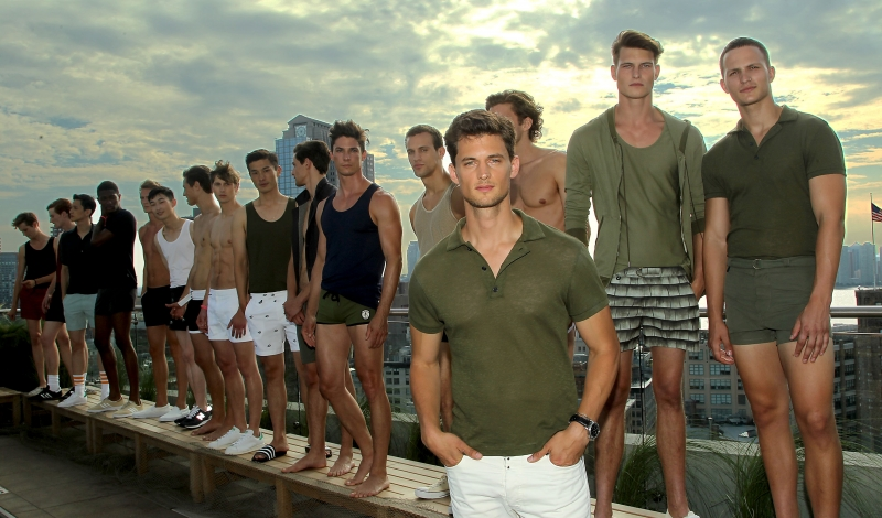 """New York, NY - 7/13/15 - Garrett Neff Launches Swimwear Line """"KATAMA"""" during Men's Fashion Week. - Filename: AUR_2015_001906.JPG -Location: The Jimmy at the James Hotel   Startraks Photo New York,  NY For licensing please call 212-414-9464  or email sales@startraksphoto.com Startraks Photo reserves the right to pursue unauthorized users of this image. If you violate our intellectual property you may be liable for actual damages, loss of income, and profits you derive from the use of this image, and where appropriate, the cost of collection and/or statutory damages."""
