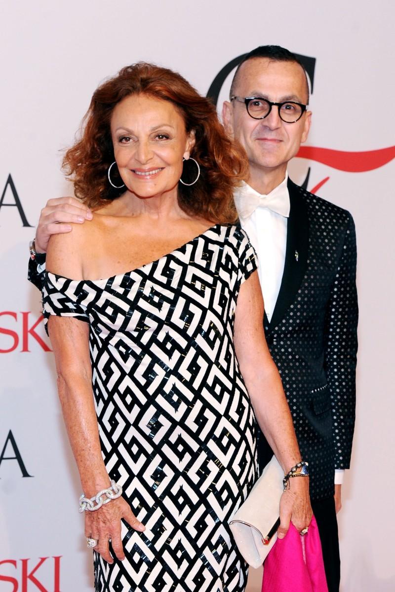 Diane von Furstenberg and Steven Kolb at the 2015 CFDA Fashion Awards