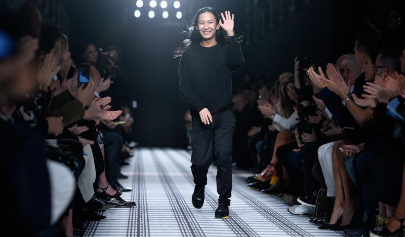 PARIS, FRANCE - MARCH 06:  Designer Alexander Wang walks the runway after the Balenciaga s