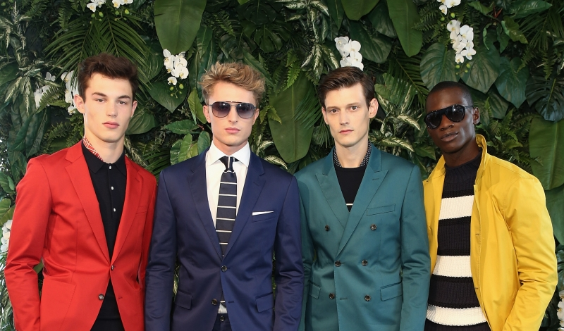 NEW YORK, NY - JULY 15:  Models pose on the runway at the Tommy Hilfiger Spring 2016 Men's Tailored Collection presentation on July 15, 2015 in New York City.  (Photo by Neilson Barnard/Getty Images Tommy HIlfiger)