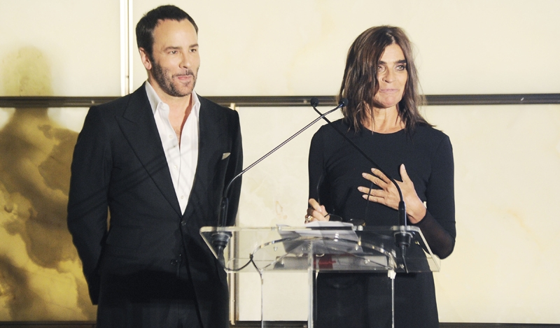 Tom Ford, Carine Roitfeld== The Daily Front Row Fashion Media Awards Presented by Maybelline, Gibson, Evian & Wolford== Park Hyatt New York, NYC== September 5, 2014== ©Patrick McMullan== Photo - Nicholas Hunt/PatrickMcMullan.com== ==