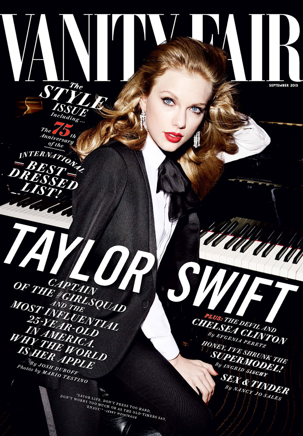 Taylor Swift Covers Vanity Fair S September Issue