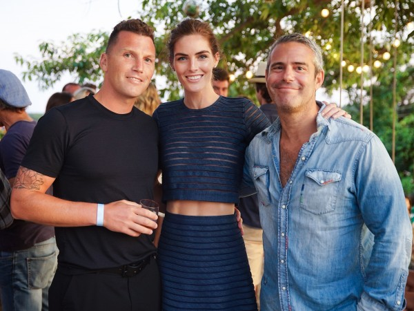 Sean Avery, Hilary Rhoda, Andy Cohen