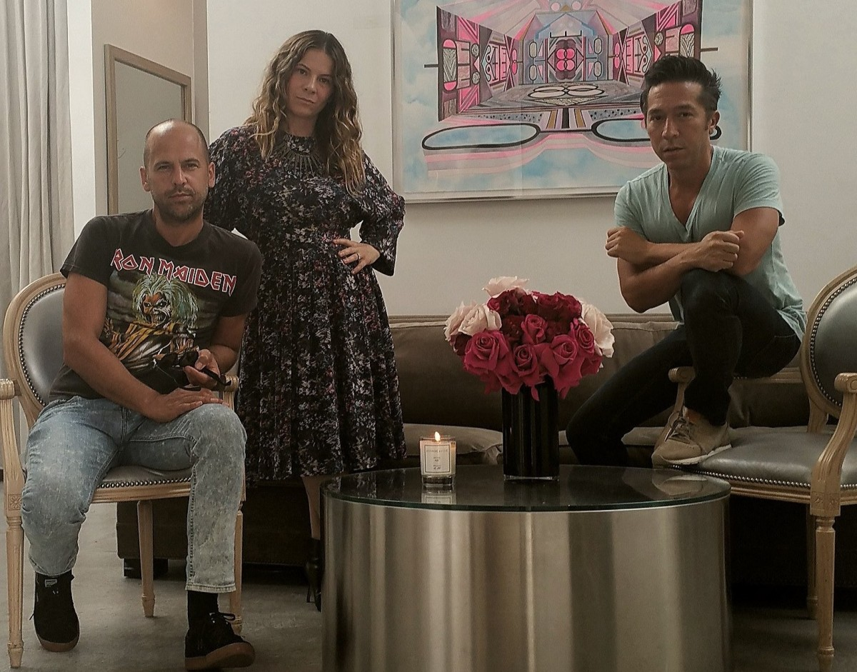 BRIAN WOLK, CLAUDE MORAIS and ASHLEE MARGOLIS AT THE A LIST BEVERLY HILLS