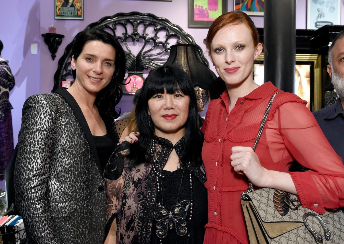 Michelle Hicks, Anna Sui, Karen Elson