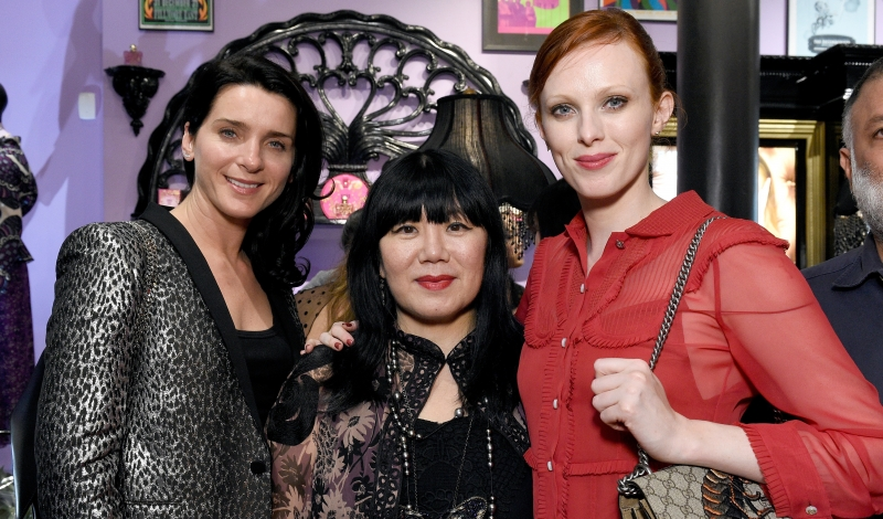 Michelle Hicks, Anna Sui and Karen Elson attend Anna Sui's New Shop Party for the Anna Sui Spring 2016 Collection held at Anna Sui's New Shop 484 Broome Street, in New York City, Thursday, September 17, 2015. Photo by Jennifer Graylock-Graylock.com 917-519-7666