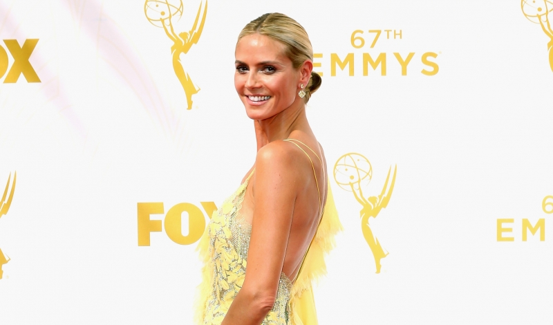 LOS ANGELES, CA - SEPTEMBER 20:  TV personality Heidi Klum attends the 67th Annual Primetime Emmy Awards at Microsoft Theater on September 20, 2015 in Los Angeles, California.  (Photo by Mark Davis/Getty Images)