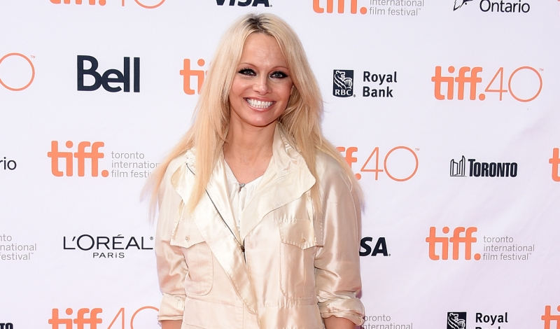 "TORONTO, ON - SEPTEMBER 13:  Producer Pamela Anderson attends the ""This Changes Everything"" photo call during the 2015 Toronto International Film Festival at Ryerson Theatre on September 13, 2015 in Toronto, Canada.  (Photo by Mike Windle/Getty Images)"