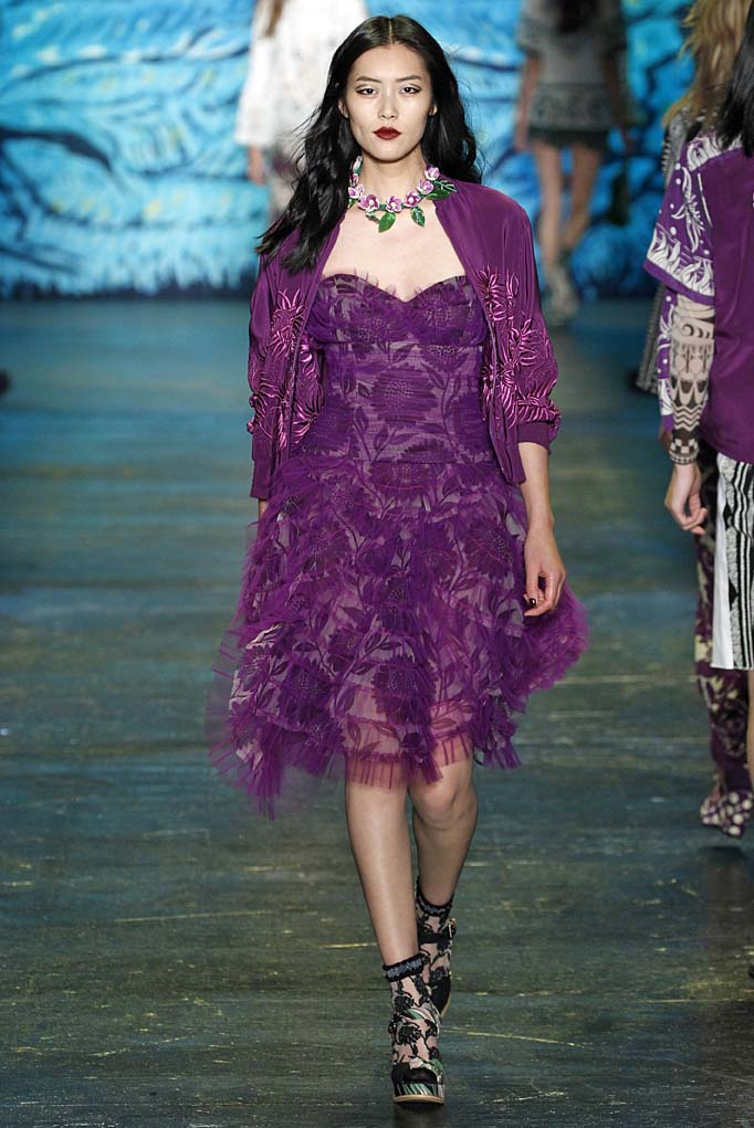 Anna Sui New York RTW Spring Summer 2016 September 2015