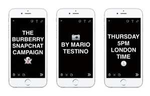 Burberry announces Snapchat Campaign