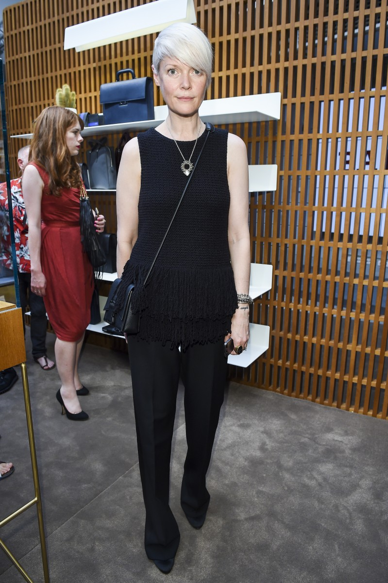 MILAN, ITALY - JUNE 21: Kate Lanphear attended the Bally Men's Spring Summer 2016 Presentation in Milan, 21st June 2015. (Photo by Jacopo Raule/Getty Images for Bally)