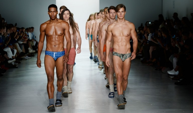 NEW YORK, NY - JULY 16:  Models walk the runway at the Parke & Ronen fashion show during New York Fashion Week: Men's S/S 2016 at Skylight Clarkson Sq on July 16, 2015 in New York City.  (Photo by Fernanda Calfat/Getty Images for Parke & Ronen)