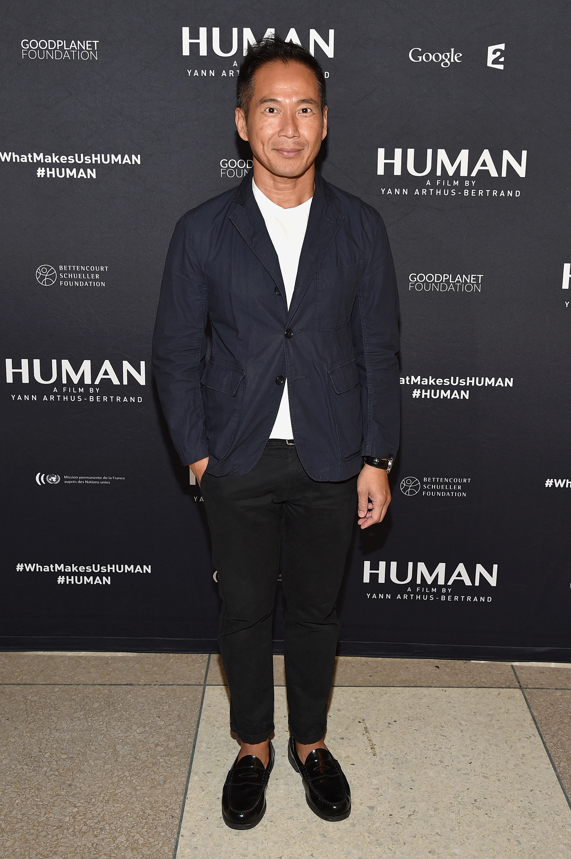 "NEW YORK, NY - SEPTEMBER 12: Marcus Teo attends the global screening of the film ""Human"" at the United Nations General Assembly Hall on September 12, 2015 in New York City. (Photo by Bryan Bedder/Getty Images for HUMAN)"