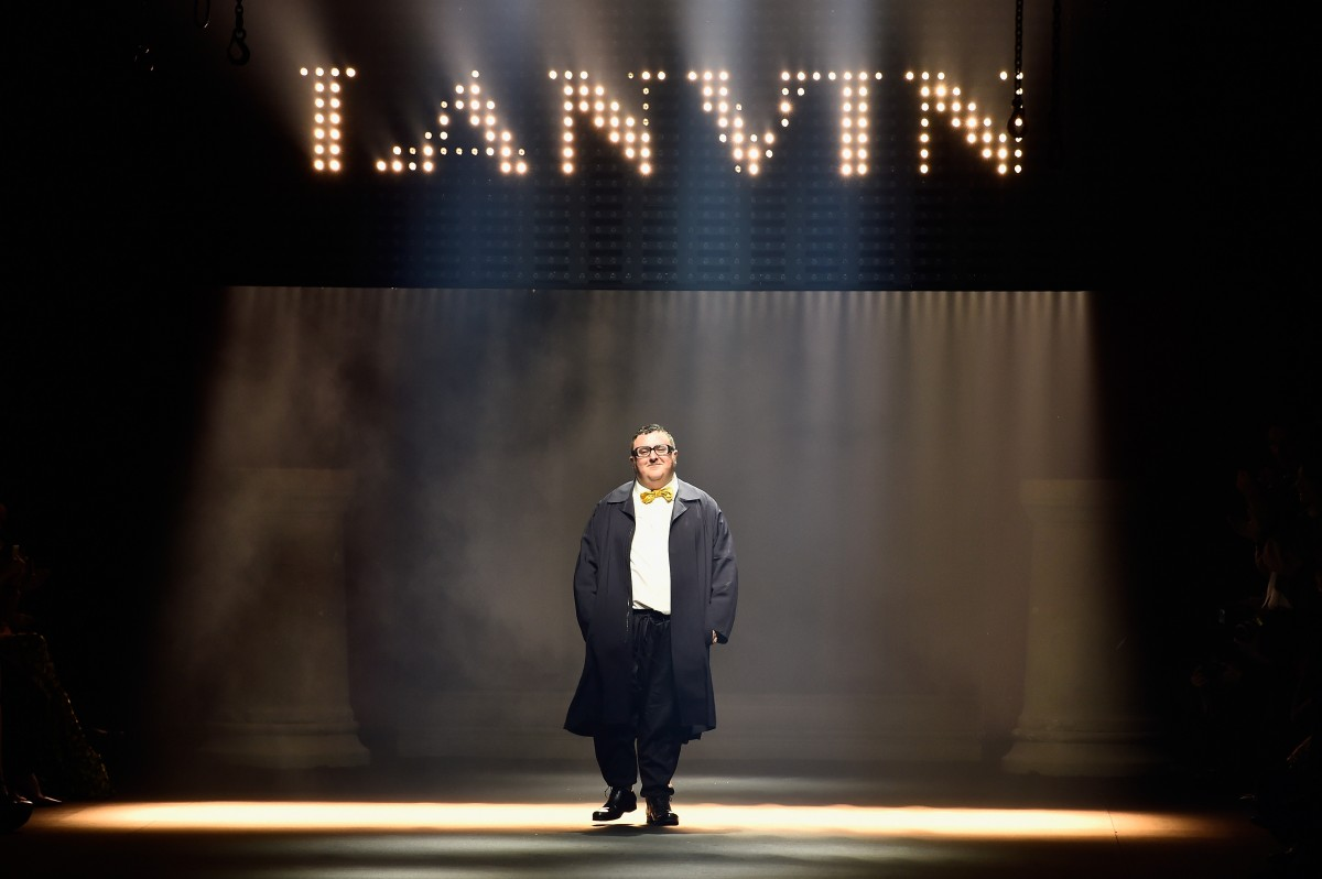 PARIS, FRANCE - OCTOBER 01: Designer Alber Elbaz walks the runway during the Lanvin show as part of the Paris Fashion Week Womenswear Spring/Summer 2016 on October 1, 2015 in Paris, France. (Photo by Pascal Le Segretain/Getty Images)